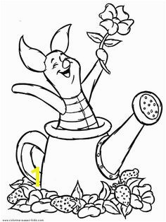 Piglet Winnie the Pooh color page disney coloring pages color plate coloring sheet