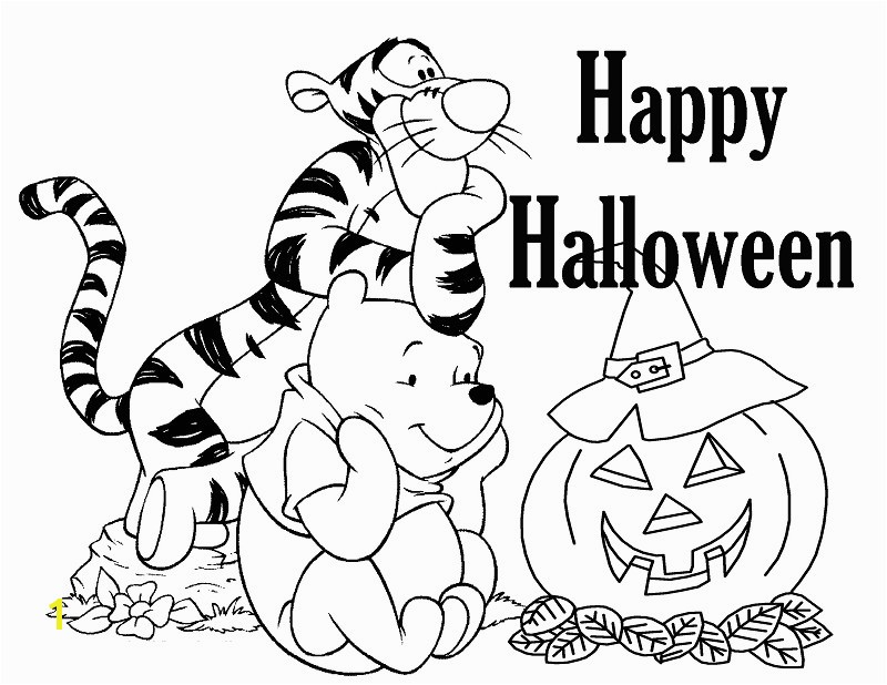Winnie The Pooh Halloween Greeting Card Coloring Pages Beautiful Fall For Toddlers