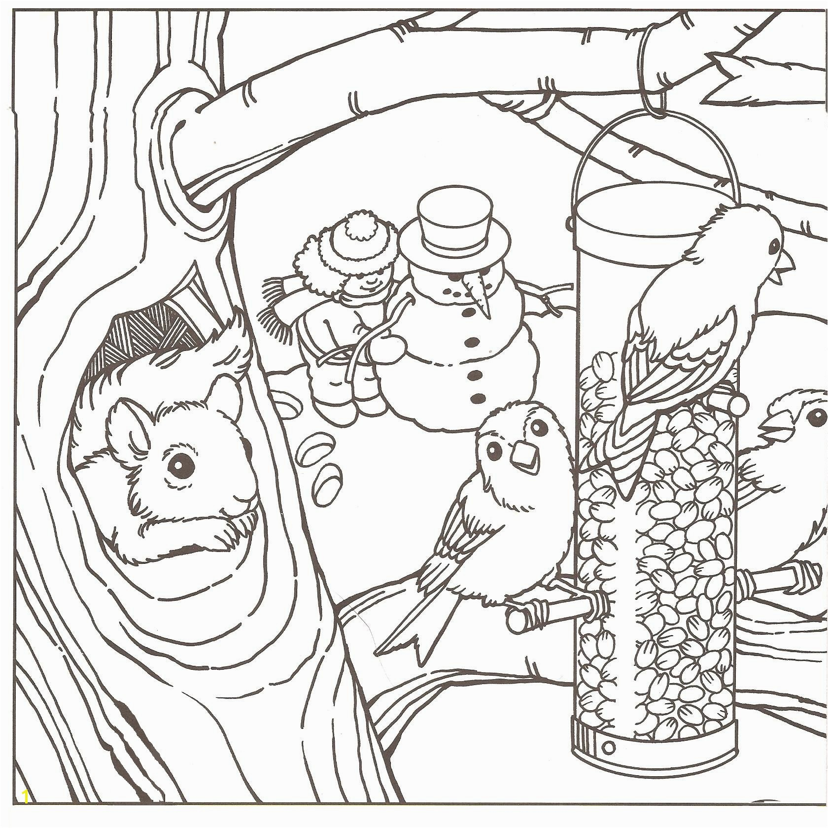 Winter Coloring Pages Adults Elegant Phenomenal Free Winter Coloring Pages A P L E Cute Scene To Color