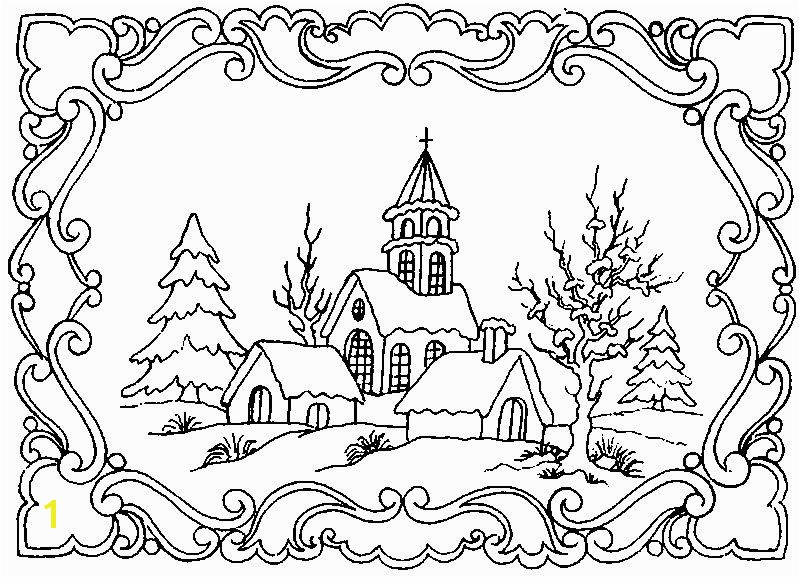 Winter Scene Coloring Pages Winter Scene Coloring Pages for Adults Google Search