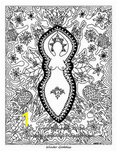Winter Solstice Goddess Coloring Page