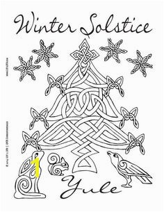 Coloring sheet Happy Winter Solstice