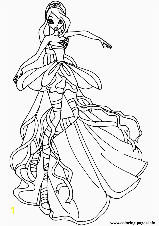 Winx Club Coloring Page Winx Club Coloring Pages 13 Best Winx Club Bloom Harmonix Coloring