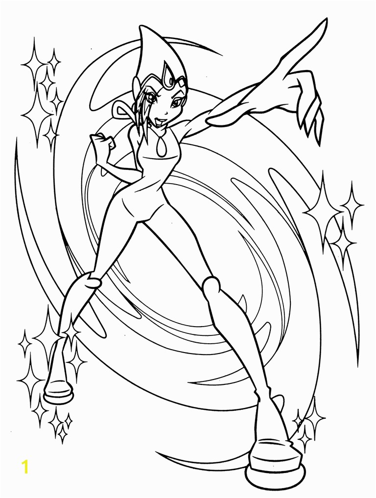 Winx Club coloring page Bloom Stella Flora Musa Tecna and Layla