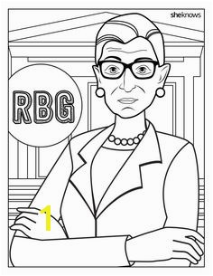 This Ruth Bader Ginsburg Coloring Book Is 9 Printable Pages of Pure Magic