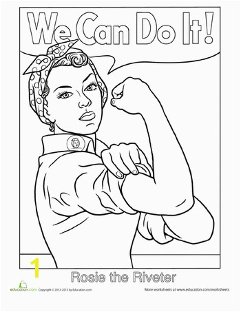 Worksheets Rosie the Riveter Coloring Page I am so giving this to my daughter son