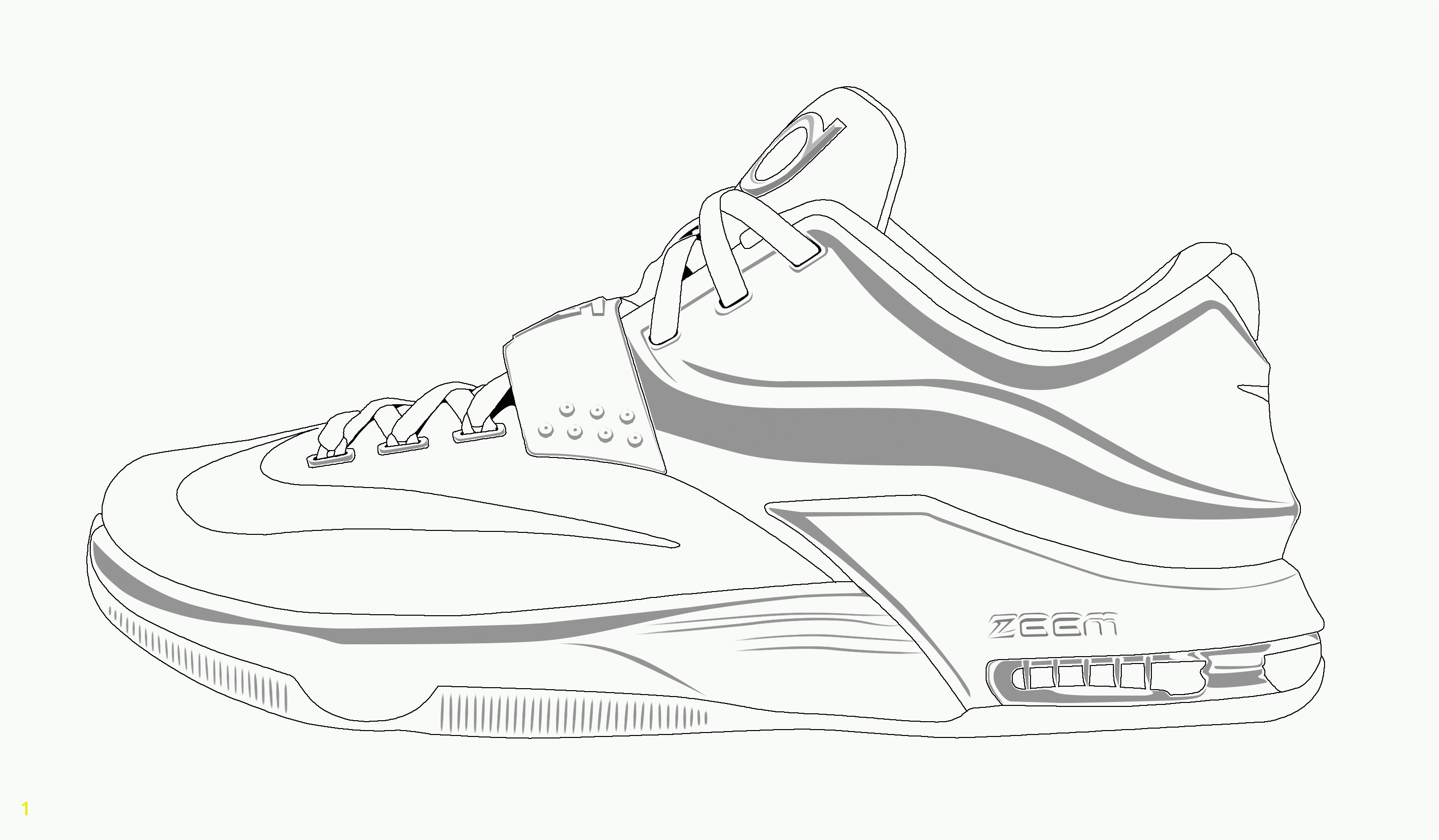 Revealing Shoe Coloring Page Kobe Bryant Shoes Pages Free For Kids 2018