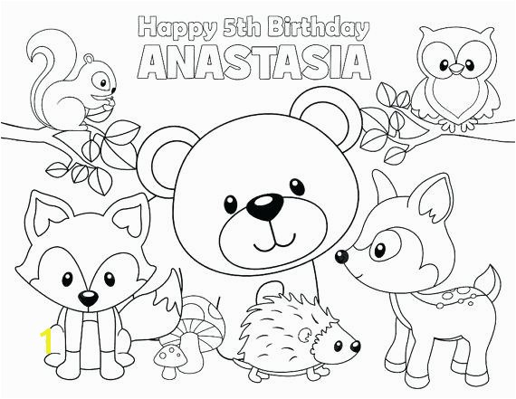 woodland creatures coloring pages personalized printable woodland forest animals deer fox birthday of personalized printable woodland