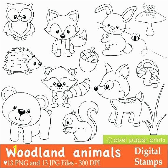 woodland creatures coloring pages woodland animals coloring pages like this item woodland forest animals coloring pages