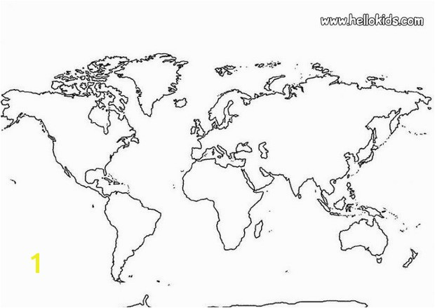 World Map Coloring Page Online World Map Coloring Pages Hellokids