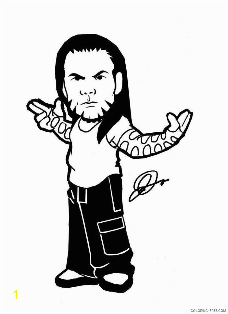 wwe jeff hardy coloring pages for kids Coloring4free