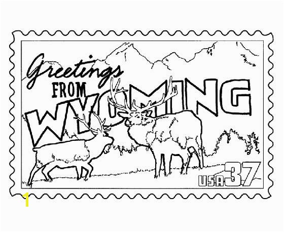 Wyoming Flag Coloring Page Coloring Book Page American Flag Printable New Postcard Coloring