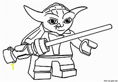 Print out Lego Star Wars Yoda Coloring Pages Printable Coloring Pages For Kids