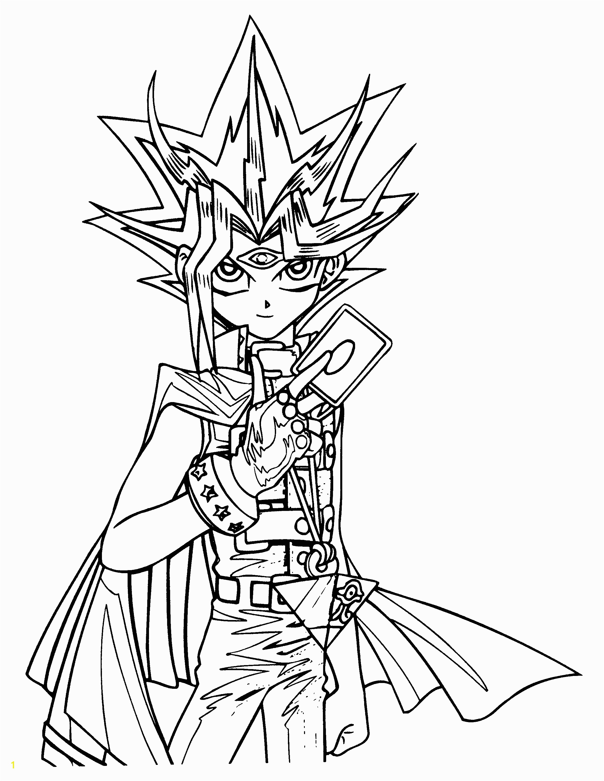 Yu Gi Oh Coloring Pages to Print Yu Gi Oh Coloring Page Tyson S 9th Birthday