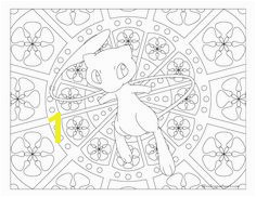 Free printable Pokemon coloring page Mew