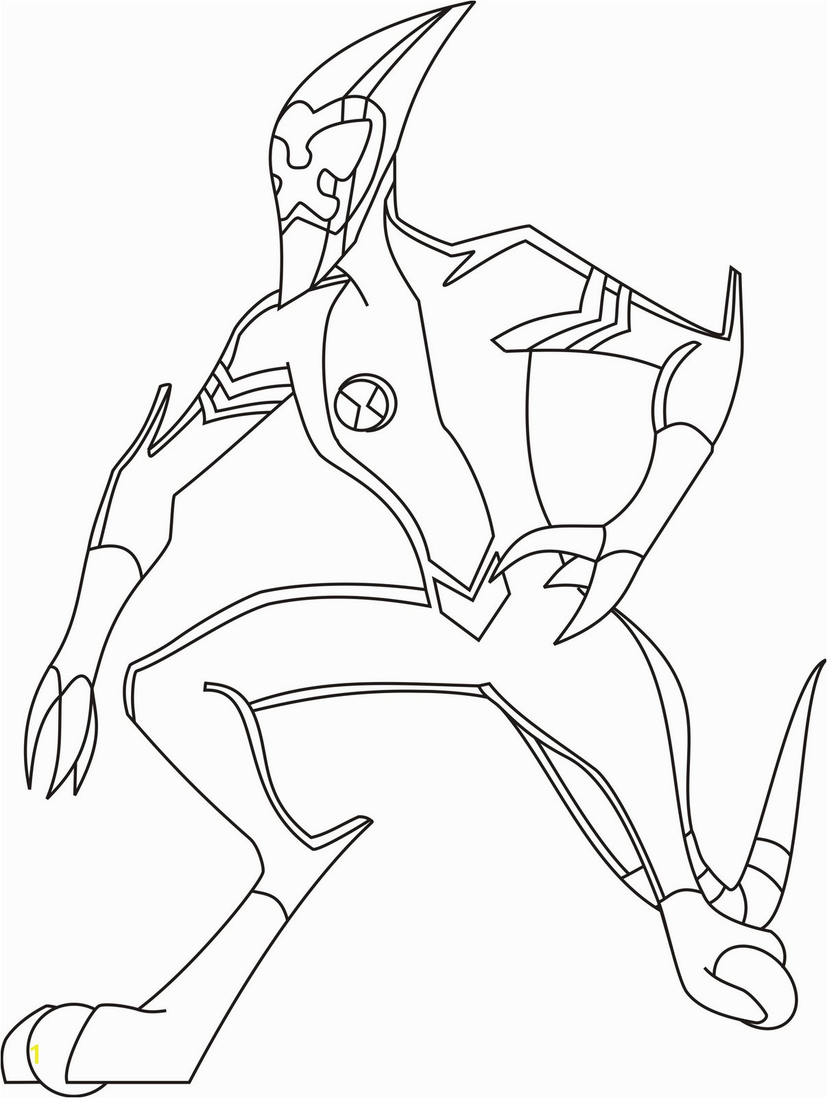 Ben 10 Coloring Pages Upgrade Ben 10 Xlr8 Coloring Pages