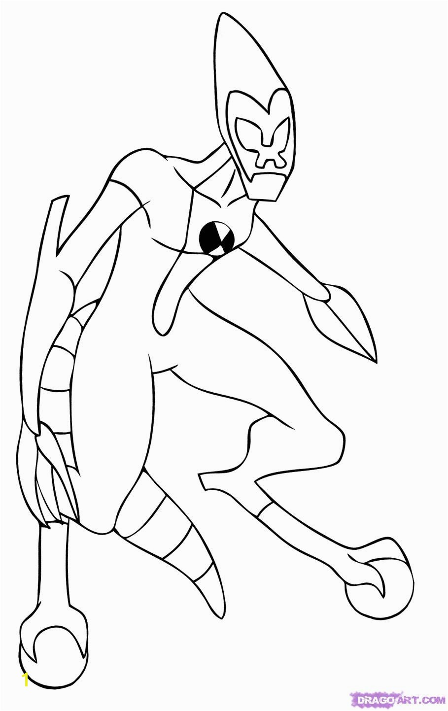 how to draw ben 10 aliens xlr8 step 6