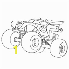 Monster Truck Coloring Pages Batman Monster Truck