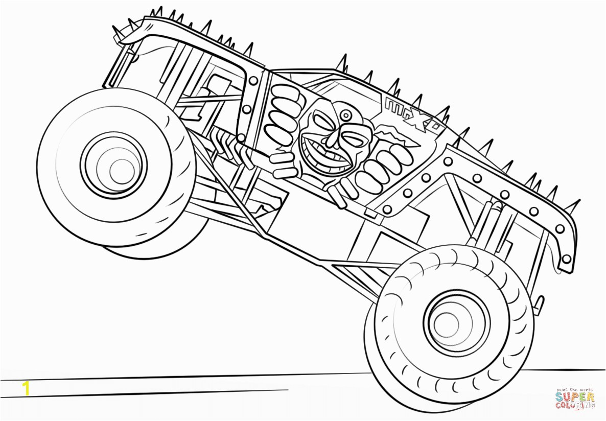the Max D Monster Truck coloring pages