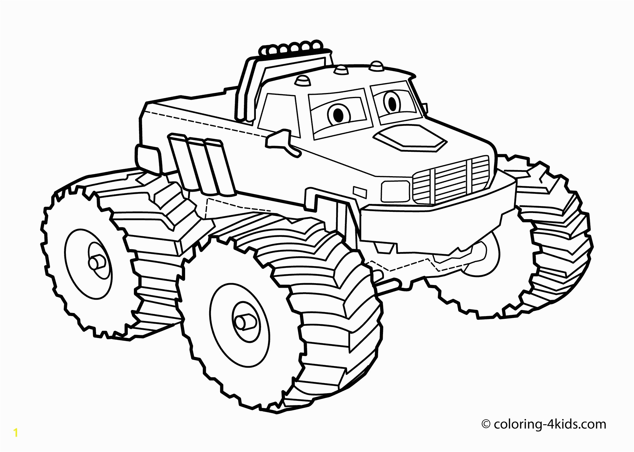 Coloring Book Pages Of Monster Trucks Monster Truck Coloring Page for Kids Monster Truck Coloring Books