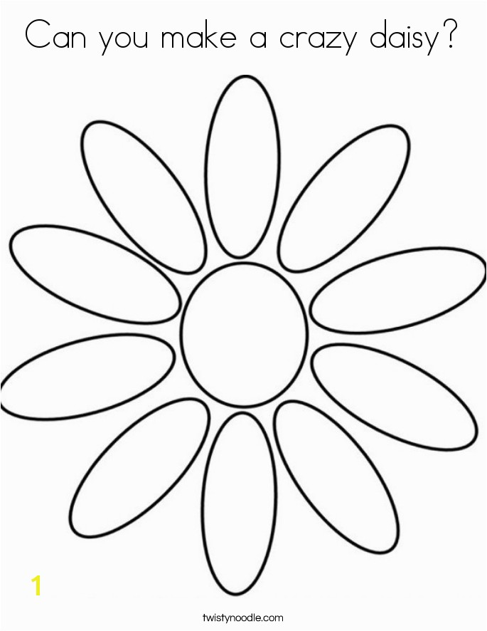 can you make a crazy daisy coloring page