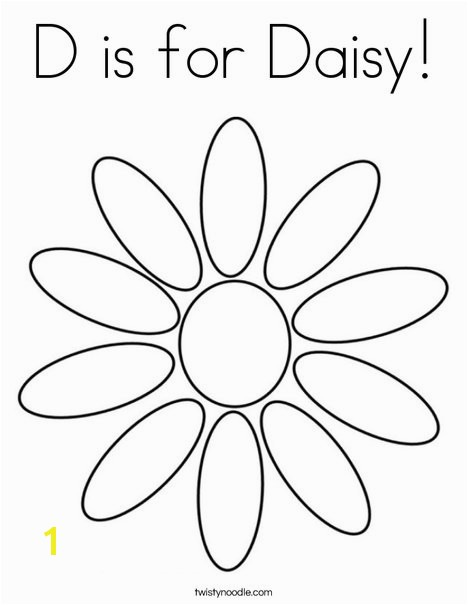 d is for daisy 5 coloring page
