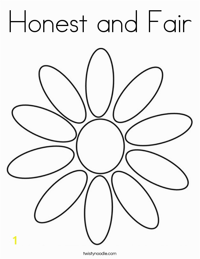 honest and fair coloring page