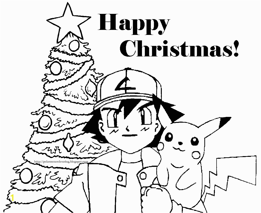 pokemon christmas coloring pictures