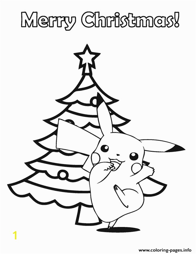 pokemon merry christmas printable coloring pages book