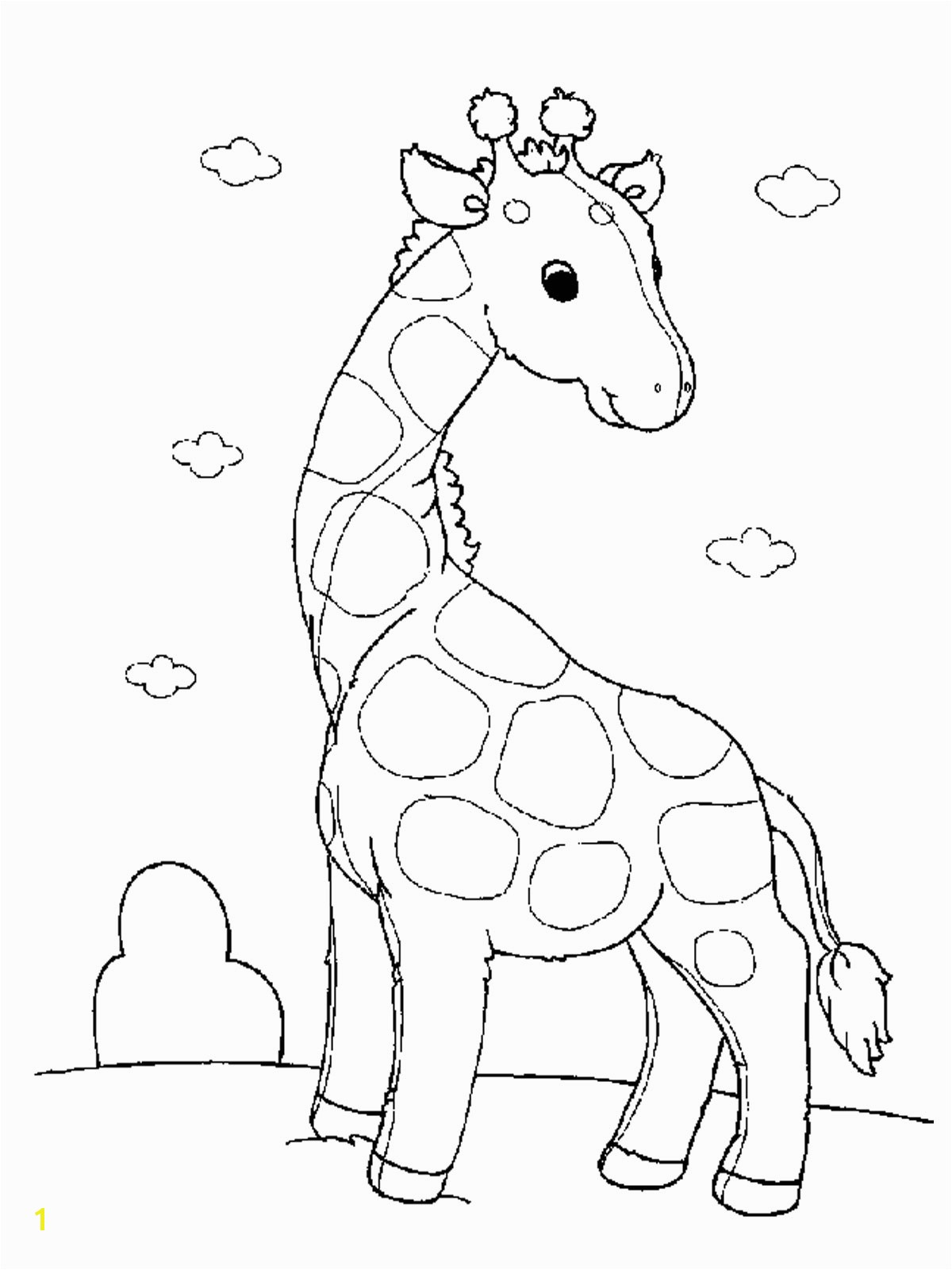 Free Printable Animal Coloring Pages Free Printable Giraffe Coloring Pages for Kids
