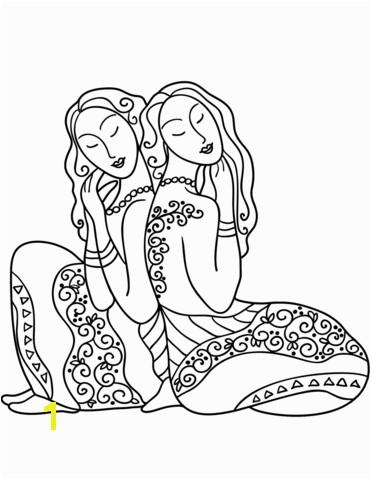 Gemini zodiac sign coloring page