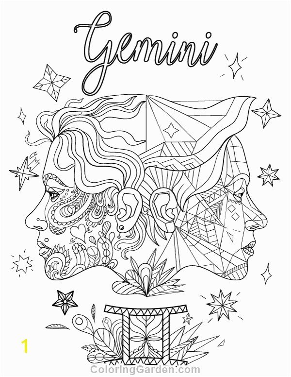 Gemini Coloring Pages Pin by Muse Printables On Adult Coloring Pages at Coloringgarden