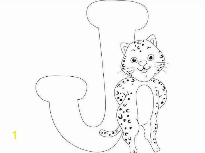 free printable letter j jaguar coloring pages for kids