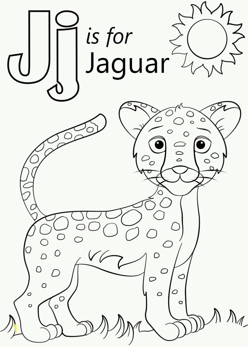 J is for Jaguar Coloring Page J is for Jaguar Coloring Pages