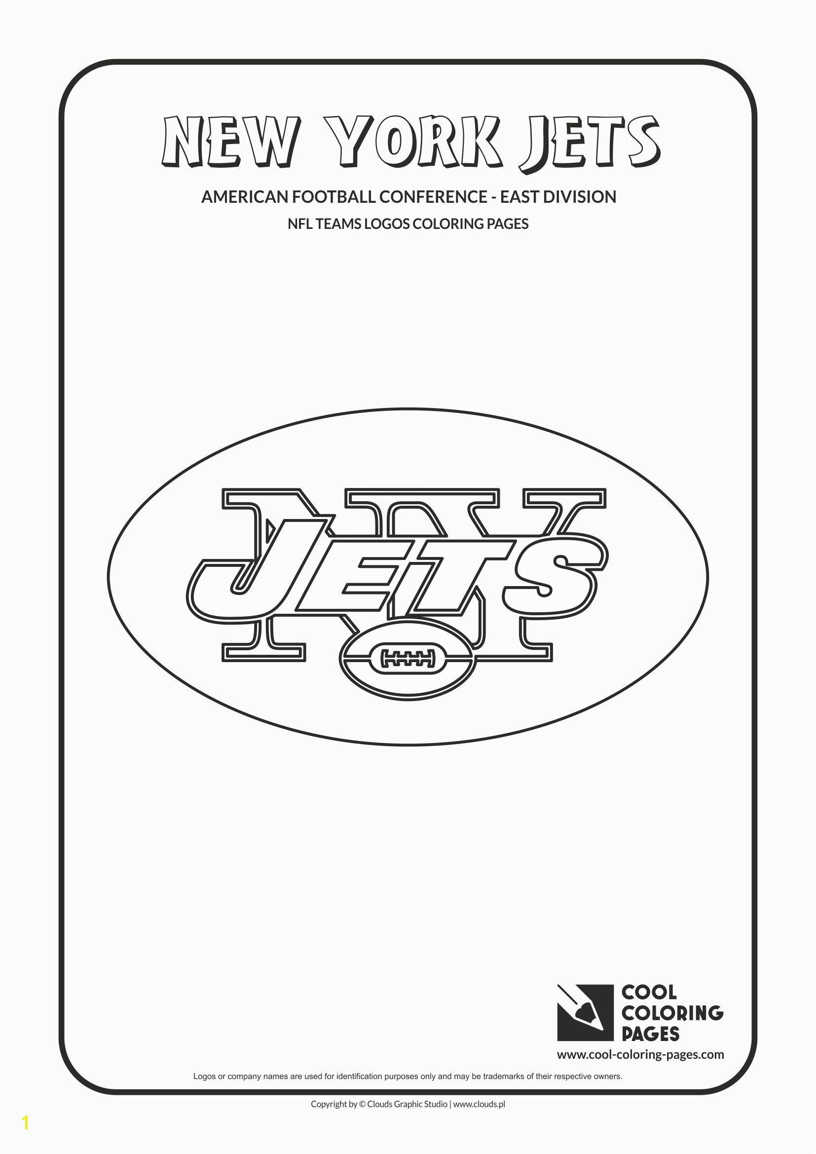Cool Coloring Pages NFL American Football Clubs Logos American Football Conference East Division