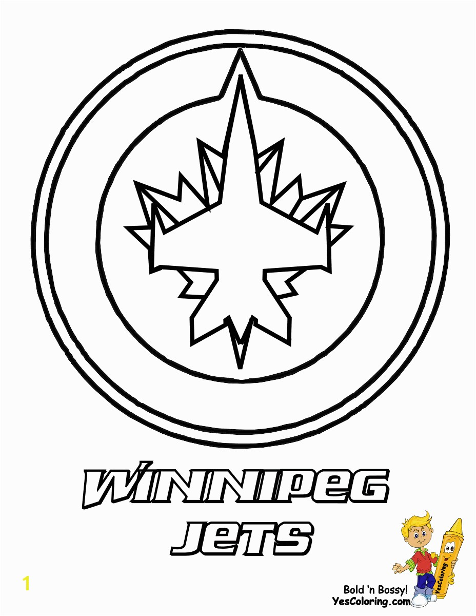 Winnipeg Jets Hockey Picture Needs a line through the centre of the plane & stem of the leaf and the top of the left leaf to the centre of the wing
