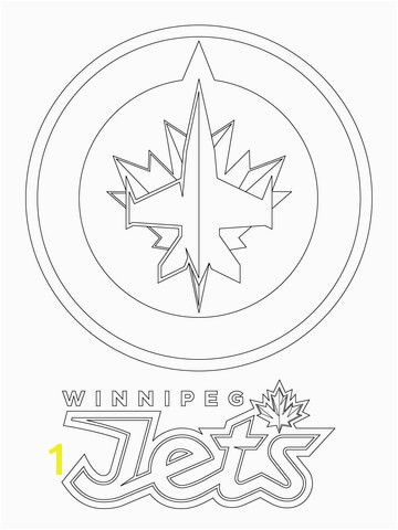 Jets Logo Coloring Page Winnipeg Jets Logo Coloring Page