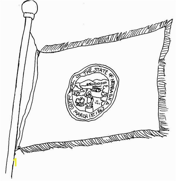 nebraska state flag coloring page