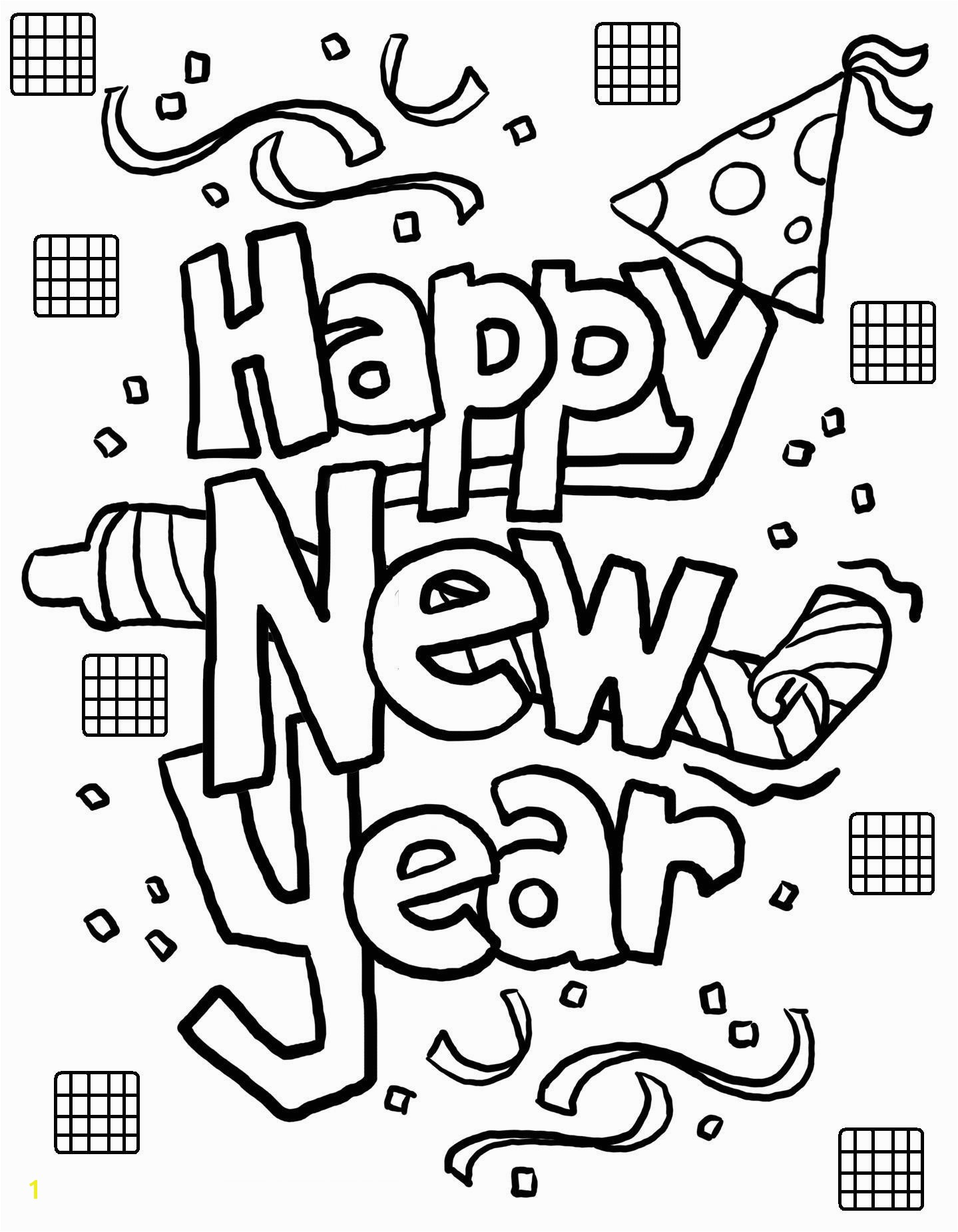 New Year Coloring Pages Free Printables Free Printable New Years Coloring Pages for Kids