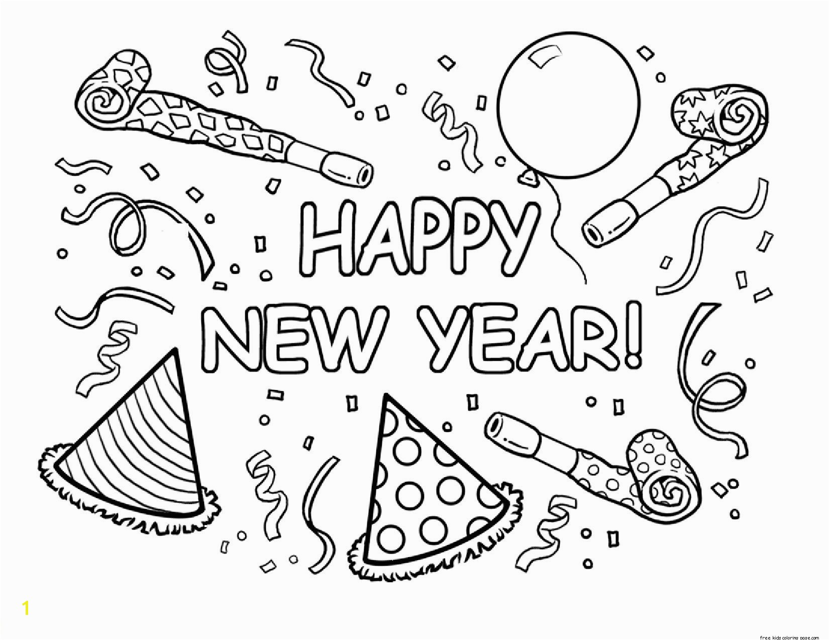 printable happy new year coloring pages for kids