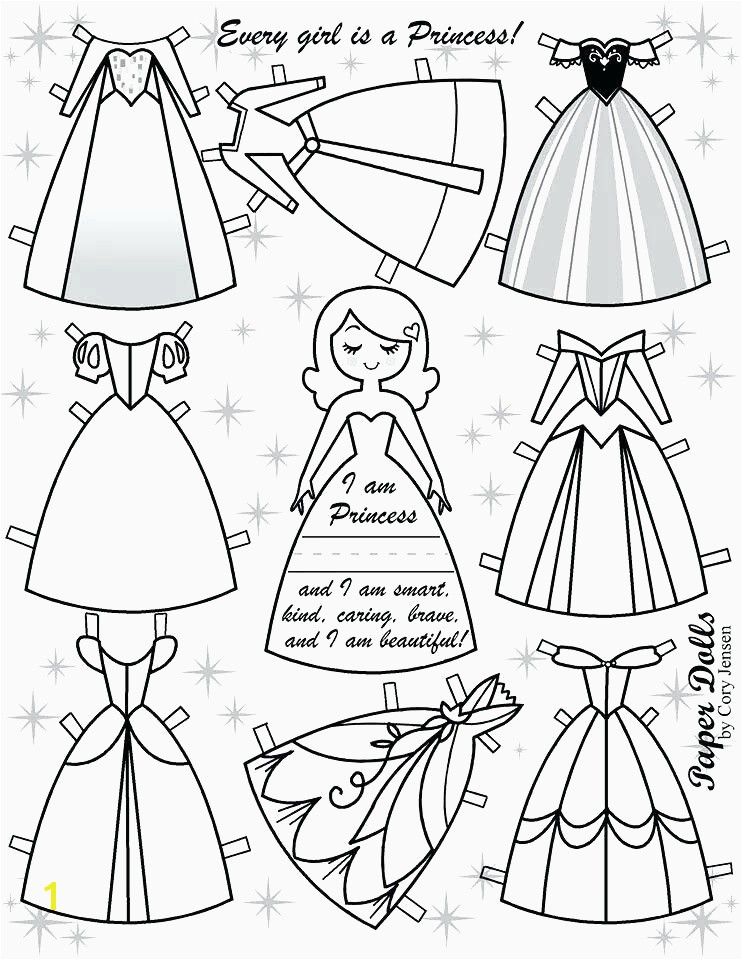 Coloring Pages for Kids Princess Paper Dolls Printable Inspirational Paper Doll Cut Out Template Print Out and Cut these Free