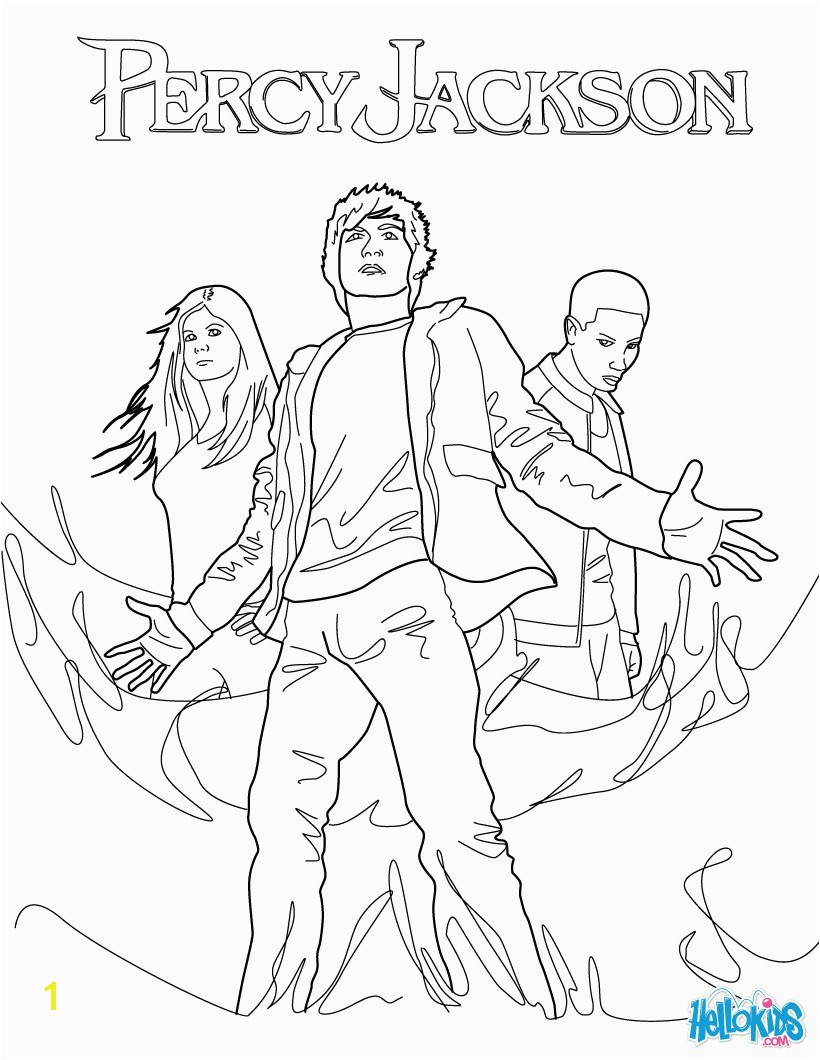 Percy Jackson Coloring Pages Percy Annabeth Chase and Grover Underwood Coloring Pages Hellokids