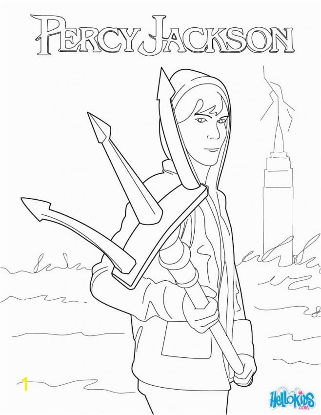 poseidon percy jackson coloring pages