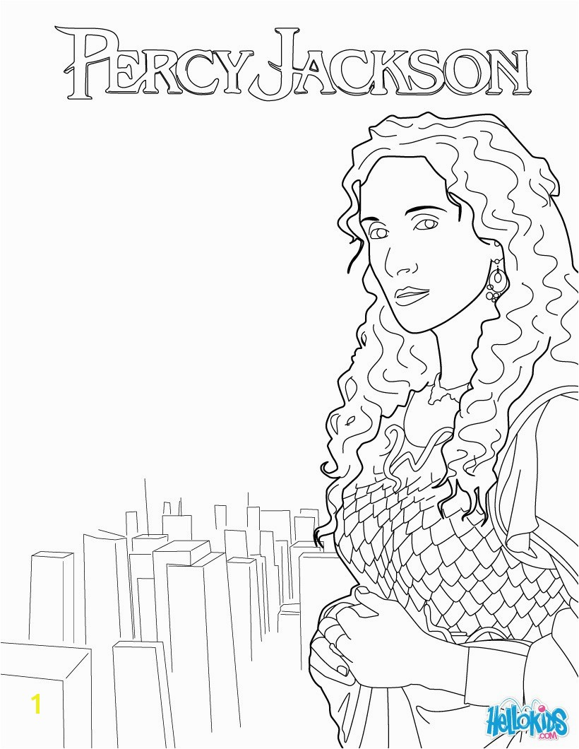 Percy Jackson Coloring Pages Poseidons Trident Coloring Pages