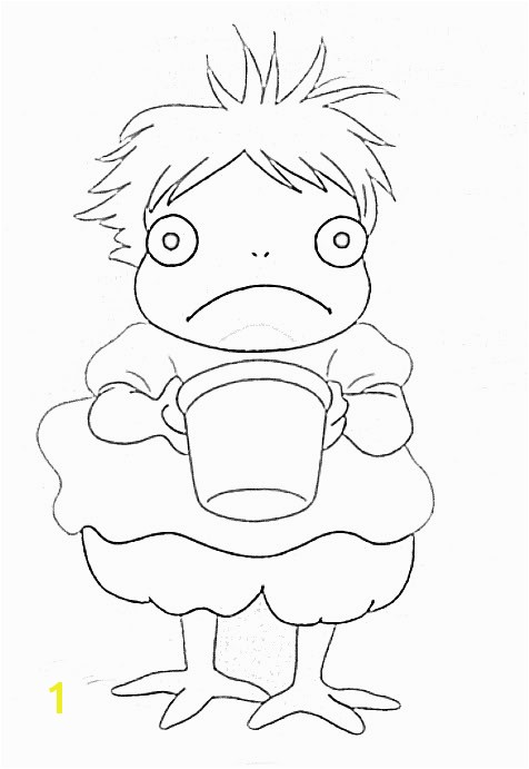Nice Ideas Ponyo Printable Coloring Pages By Planetaryduality Was Watching