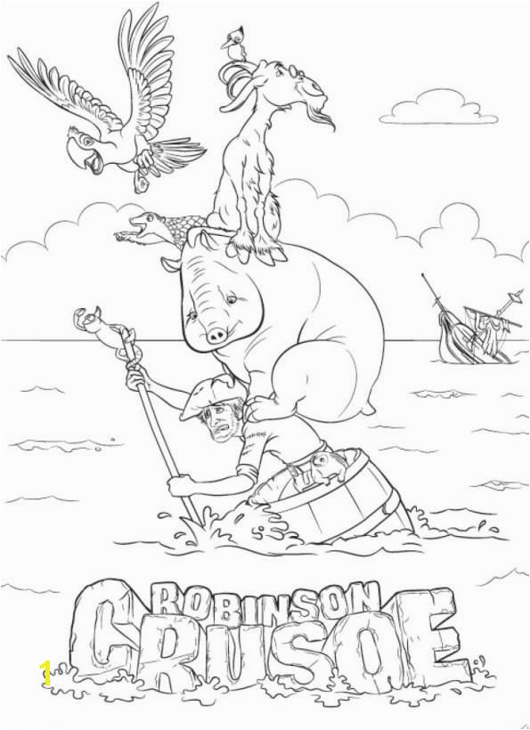 coloring page Robinson Crusoe 3D Robinson Crusoe 3D