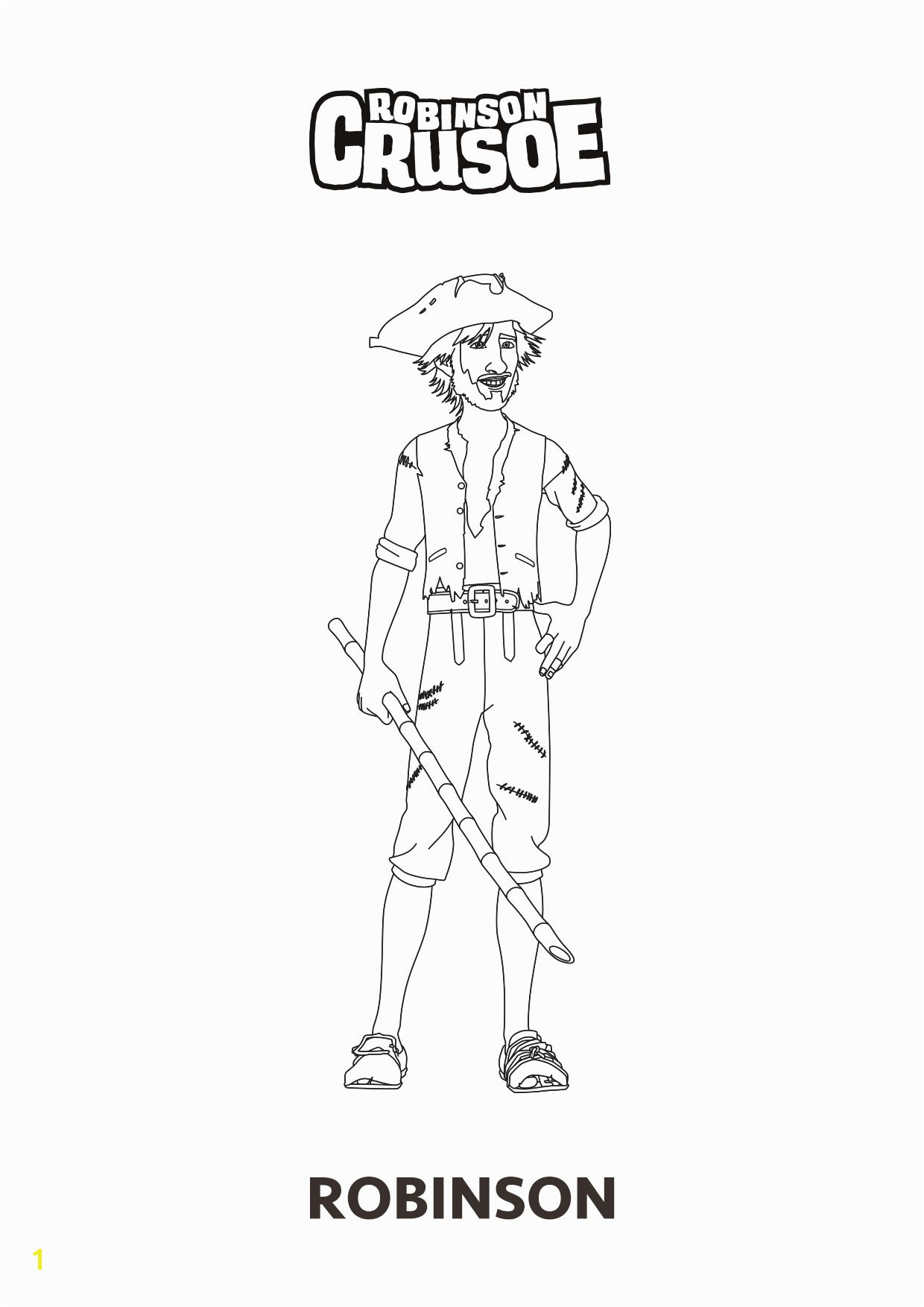 nWave RobinsonCrusoe ColoringSheet Robinson