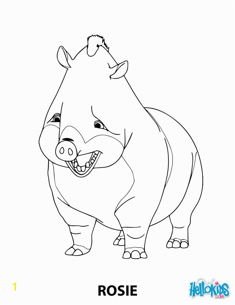Robinson Crusoe Coloring Pages Rosie the Boar From Robinson Crusoe Coloring Pages Hellokids