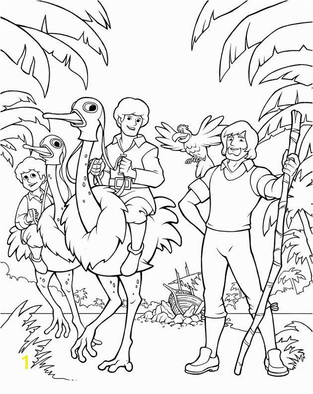 Swiss Family Robinson Coloring Page Robinson Crusoe And Swiss Family Robinson Dvd Art By Wolfehanson