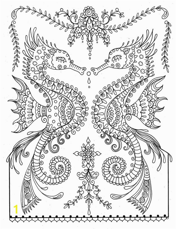 printable sea horse coloring page